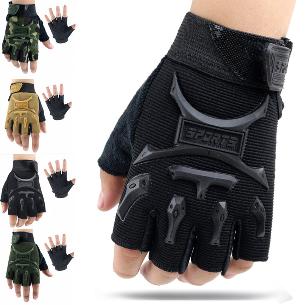 Children Sport Gloves For Training With Wrist Support For Fitness Winter Guantes Tactical Gloves Handschoenen Fingerless Luvas