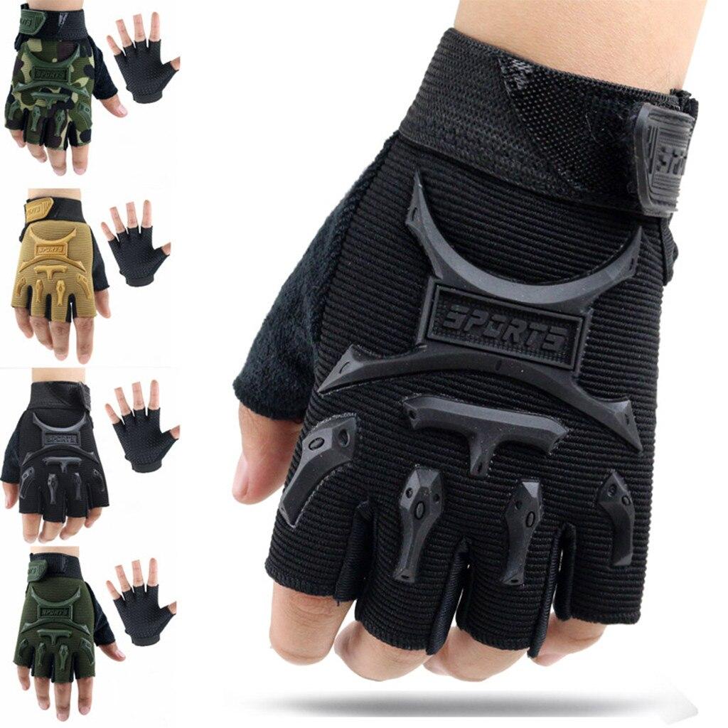 Crianças luvas esportivas para treinamento com suporte para o pulso de fitness inverno luvas táticas handschoenen fingerless luvas