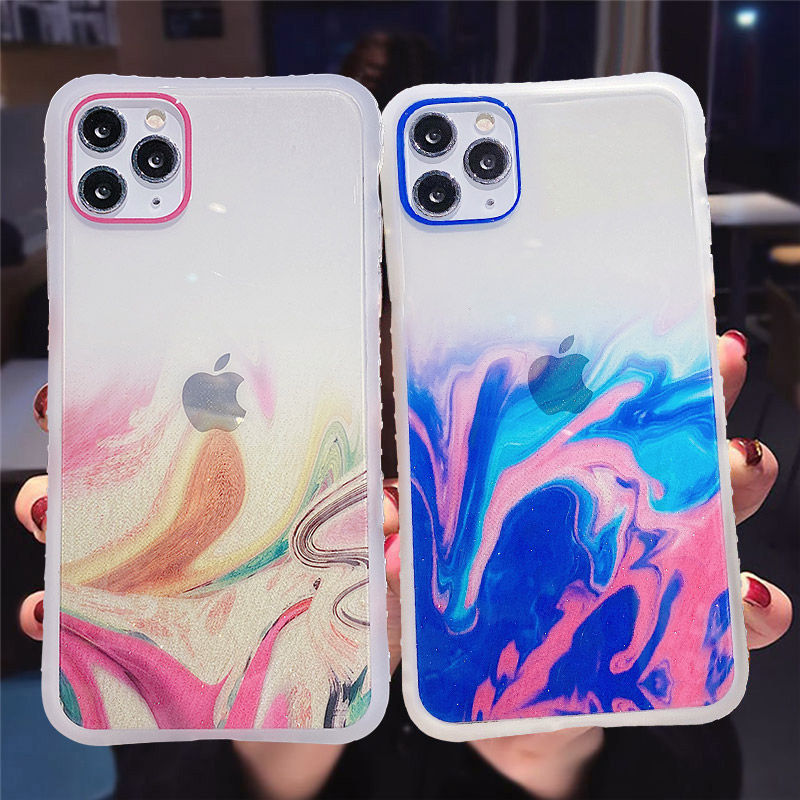 Gradient-Marble-Texture-Glitter-Phone-Case-For-iPhone-11-11Pro-Max-XR-XS-Max-X-XS