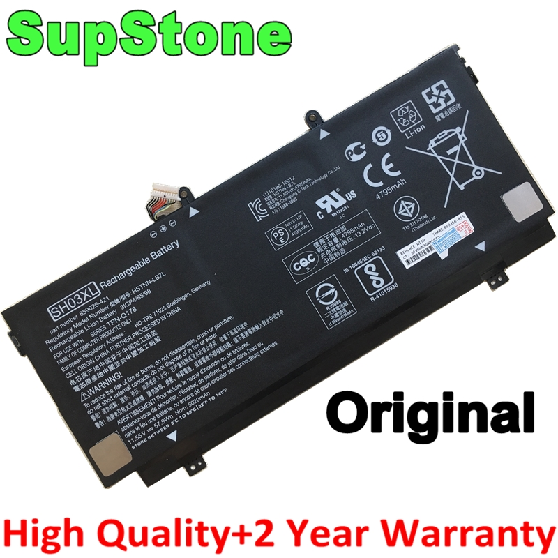 SupStone Original SH03XL CN03XL 859026-421 859356-855 HSTNN-LB7L TPN-Q178 Battery For <font><b>HP</b></font> Spectre X360 <font><b>13</b></font>-AB001 <font><b>13</b></font>-AB002 AC033DX image