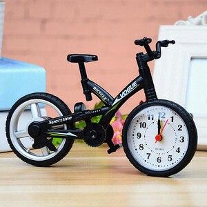 Movement Alarm Clock Home Stylish Vintage Bicycle Shape Desktop Decoration Fashion Office Plastic Mute Kids Bedroom Children