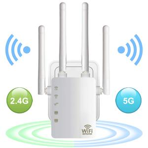 WiFi Range Extender 300/ 1200Mbps Dual Band 2.4/5GHz Wi-Fi Internet Signal Booster Wireless Repeater for Router Easy Setup WPS