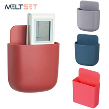 Wall Mounted Storage Box Remote Control Storage Organizer Case For Air Conditioner TV Mobile Phone Plug Holder Stand Rack