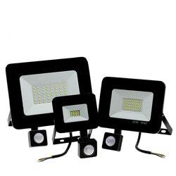 Настенный светодиодный светильник с датчиком движения, 10/20/30/50/100/150 Вт, AC 200