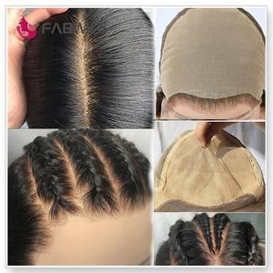 Image 4 - Кружевные парики Fabwigs, полностью кружевные парики с детскими волосами, предварительно отобранные бесклеевые парики из человеческих волос, Искусственные парики для головы, отбеленные узлы