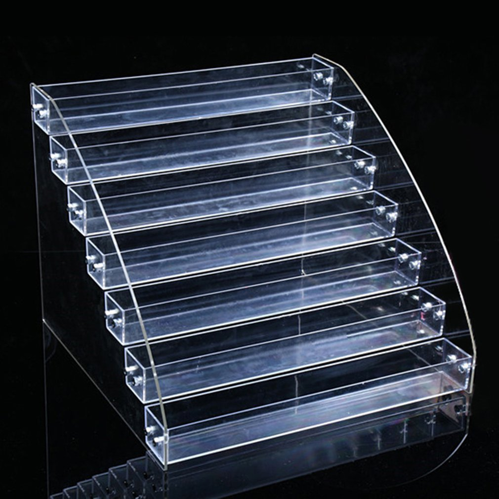 Acrylic Nail Polish Display Stand 4-5-6-7 Layer Multi-Layer Plastic Transparent Frame Mask Lipstick Display Cosmetics