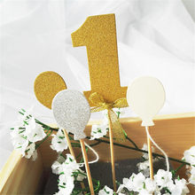 1 Set Glitter Nummers Nummer Een Cake Topper Kit Bruiloft Babyshower Verjaardag Cupcake Party Decoraties(China)