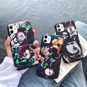 Demon Slayer Case for iphone 11 pro 6 6s 7 8 plus X XR XS Max phone cases Newest Japan Anime Kimetsu no Yaiba TPU cover Coque(China)