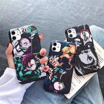 Чехол Demon Slayer для iphone 11 pro 6 6s 7 8 plus X XR XS Max, чехлы для телефонов, новейший чехол из ТПУ с японским аниме Kimetsu no Yaiba