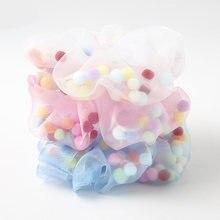 Модные Прозрачные резинки из органзы с цветным сетчатым марлевым