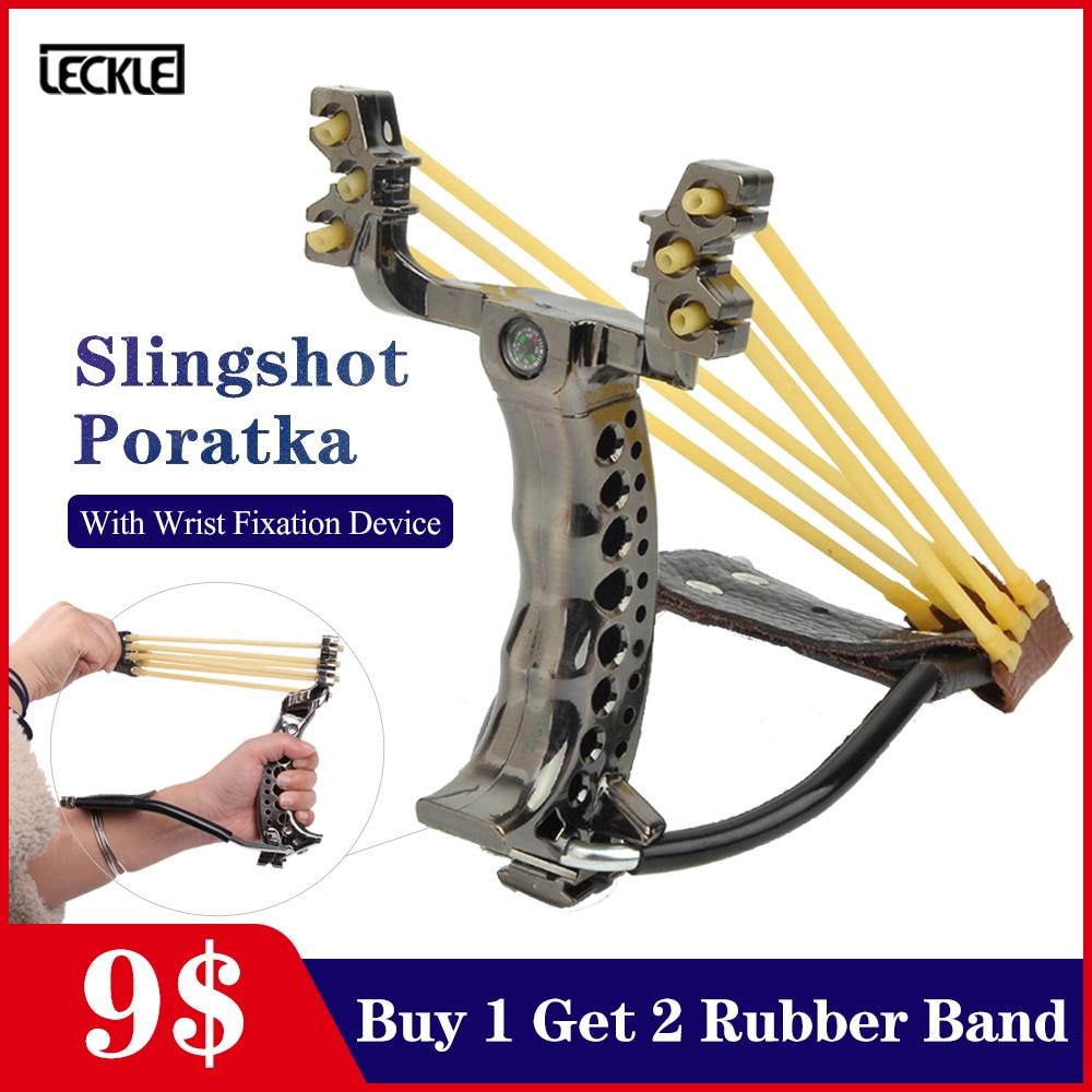 Powerful Fishing Slingshot Catapult Rubber Band Slingshot With Wrist Rest For Hunting Shooting Pocket Shot Target Sling Shot Bow