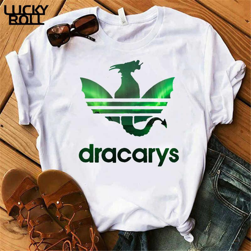 Dracarys Tシャツ女性のローズ柄母ドラゴントップス Tシャツ原宿 khaleesi Camisetas Daenery ドラゴン女性の夏の服