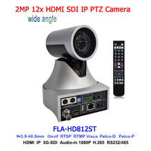 Wide Angle 72.5 Degree PTZ Camera 12x Optical Zoom Camera with SDI HDMI POE for Church / Live Streaming