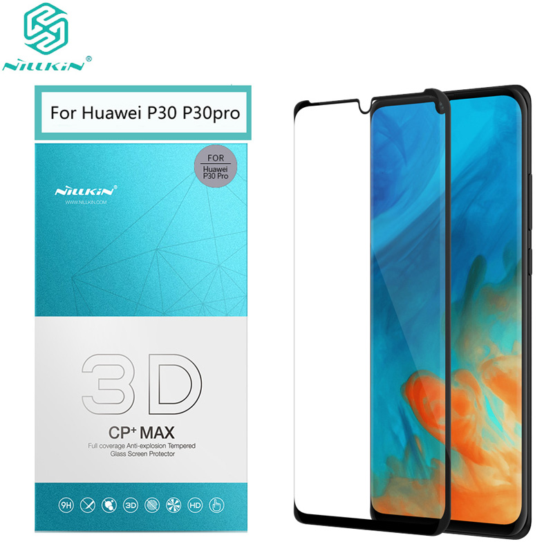 For Huawei P30 Pro Glass NILLKIN 3D CP+MAX 3D Arc Edge Full Coverage 0.33 MM Screen Protector for Huawei P30 Film|Phone Screen Protectors| |  - title=