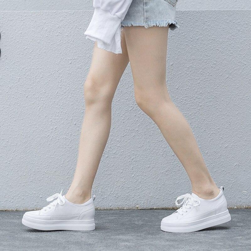 Обувь на платформе; Женские кроссовки; Женские белые кроссовки; Повседневная обувь на плоской подошве; Damen Chaussure Femme Donna Scarpe; Высокое качество; 2020 Обувь без каблука      АлиЭкспресс
