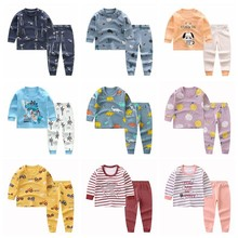0-4Y zestaw ubrań dla dzieci dzieci bawełniana bielizna jesienna zimowa piżama Baby Girl Boy z długim rękawem zestaw bielizny nocnej zestawy ubrań dla niemowląt tanie tanio Na co dzień CN (pochodzenie) Z okrągłym kołnierzykiem Pulower SS00158 COTTON Unisex Pełne REGULAR Dobrze pasuje do rozmiaru wybierz swój normalny rozmiar