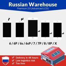 Magazzino russo Per il iPhone 6 6S 7 7 Plus 8 8 Più Schermo LCD Nuovo Premium Tianma con Touch dello schermo Per il iPhone X Display LCD