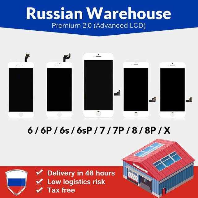Russian Warehouse For iPhone 6 6S 7 7 Plus 8 8 Plus LCD Screen New Premium Tianma with Touch Screen For iPhone X LCD Display