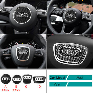 Carbon Fiber Car Accessories Interior Steering Wheel Car Stickers Styling Cover Trim Stickers For Audi A3 A4L A6L Q3 Q5 Q7