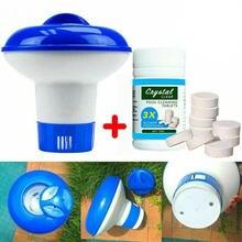 100 pces comprimidos de limpeza da piscina comprimidos de desinfecção comprimidos de cloro tubos efervescentes imediatos de limpeza de desinfecção de água