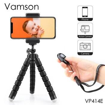 Mini trípode Vamson para teléfono Flexible pierna Gorillapod pulpo trípode cámara de teléfono móvil para iphone para Xiaomi para Samsung VP414F