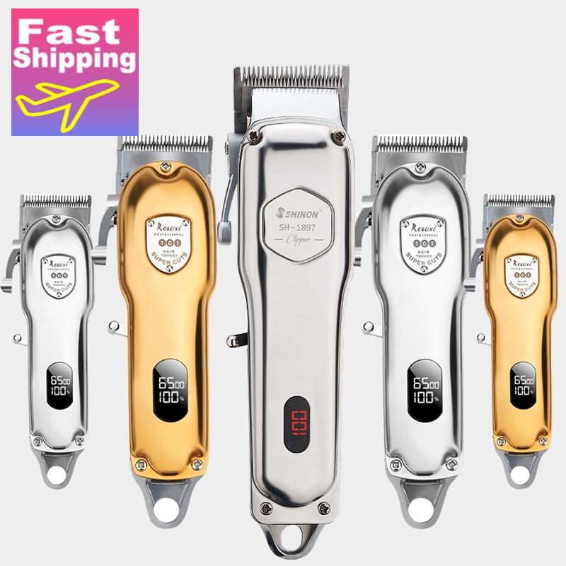 Машинка для стрижки волос, профессиональное устройство для стрижки волос, мужской триммер для бороды, беспроводной, с проводом|Триммеры для волос|   | АлиЭкспресс