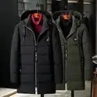 Распродажа 2019, ветронепроницаемая Хлопковая мужская длинная куртка, большой размер, зимнее пальто, толстая свободная парка, новая Толстая теплая ветровка - 4