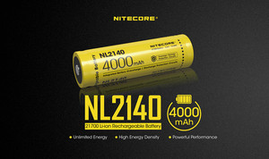 Image 2 - 1 個 NITECORE 21700 バッテリー 3.6V リチウムイオン充電式 batery 4000mah 4500mah 5000mah NL2140/NL2145/ NL2150 バッテリー保護