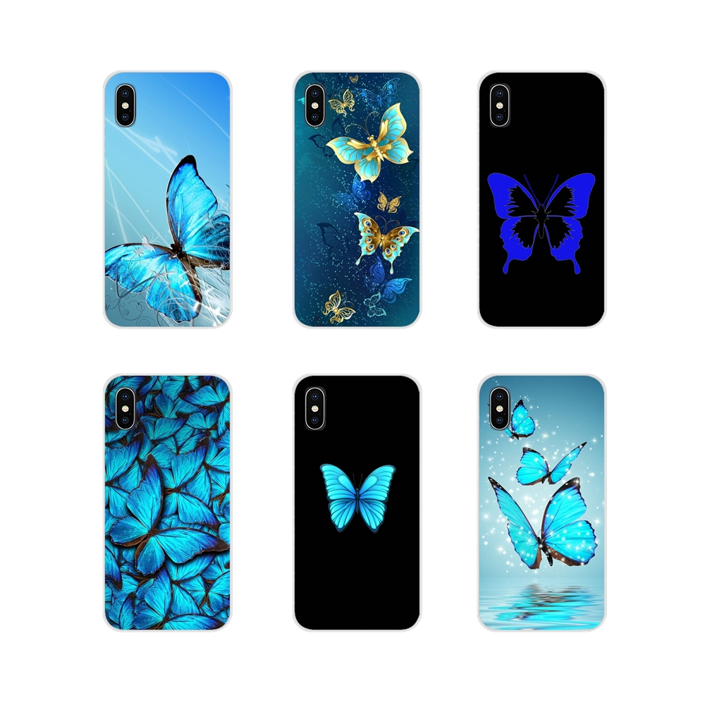 beautiful flower butterfly in blue Accessories <font><b>Phone</b></font> Cases <font><b>Covers</b></font> For Xiaomi <font><b>Redmi</b></font> 4A S2 3 3S 4 4X 5 Plus 6 7 6A <font><b>7A</b></font> Pro K20 image
