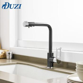 цена на Water Purification Kitchen Faucet Solid Brass Single Handle Single Hole Kitchen Mixer Cold & Hot Water Drinking Water Filter Tap