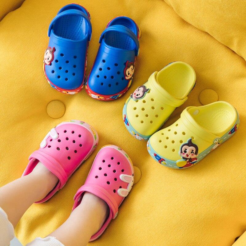 Kids Beach Shoes Summer Cartoon Slippers Boys Outdoor Flip Flops Soft Toddler Slippers Cute Girls House Shoes Pantufa Infantil