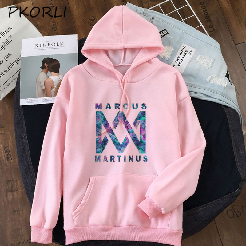 US $19.5 |Women Sweatshirt Marcus and Martinus Hoodies Clothes Female Long Sleeve Pullover Graphic Print Crewneck Sweatshirt Coats Moletom|Hoodies &
