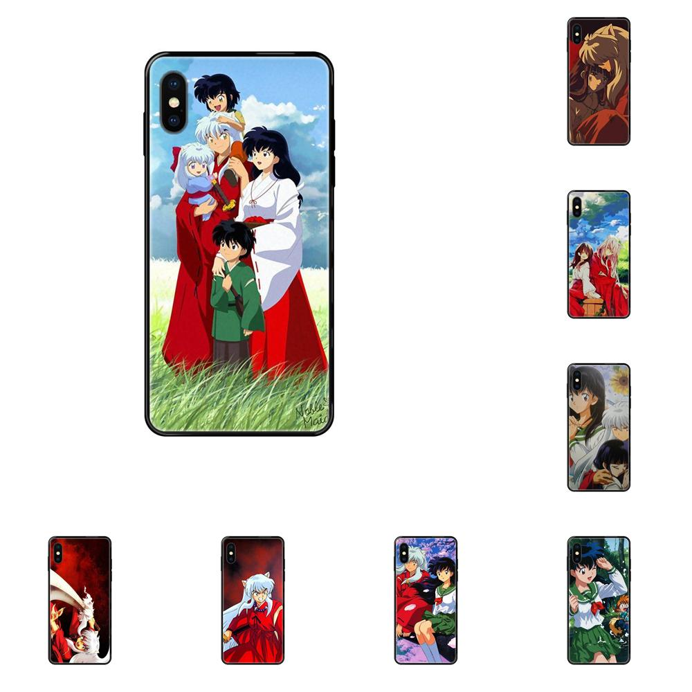 Soft TPU Retail New Fashion For iPhone 11 12 Pro 5 5S SE 5C 6 6S 7 8 X XR XS Plus Max Inuyasha