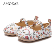 Baby Shoes Toddler Girls 0-1-Years-Old Bottom Floral And Autumn Spring Female