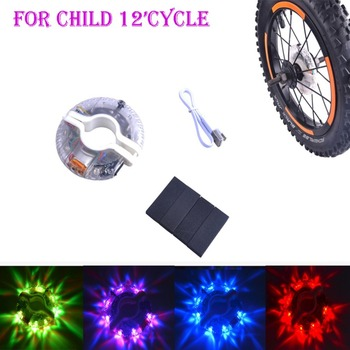 Hot Colorful LED Motorcycle Cycling Bicycle Bike Wheel Signal Tire Spoke Light Cycling Accessories USB charging Flower Drum LED image