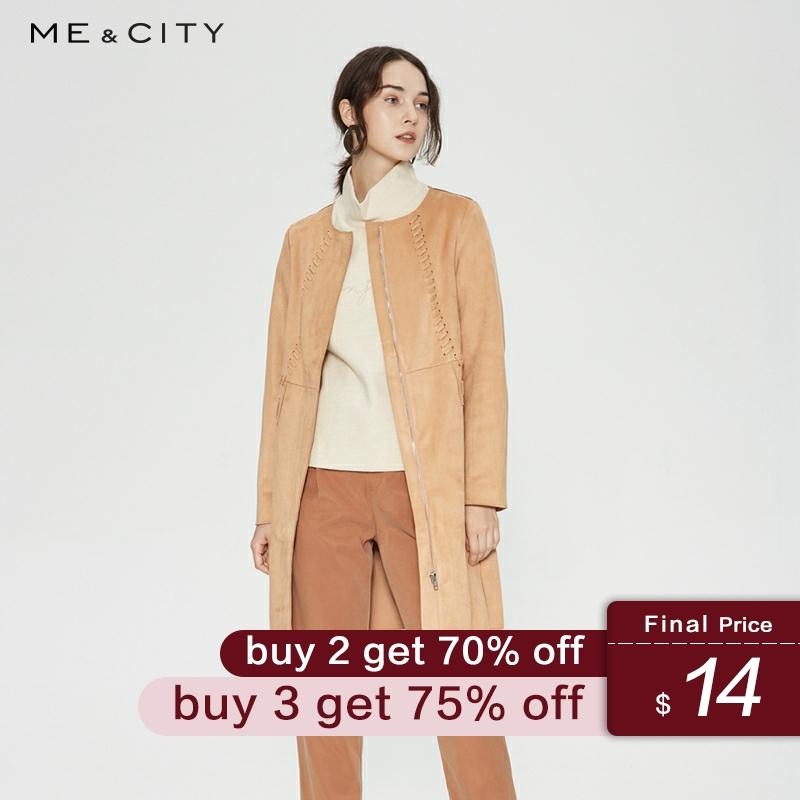 Me&city Women Coat New Female Spring Casual Trend Wild Simple Student Urban Office Straight Elegant Windbreaker