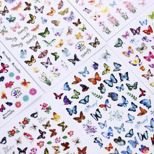 Stickers Decoration Nail-Art-Accessories Waterproof Decals Transfer Self-Adhesive Butterfly