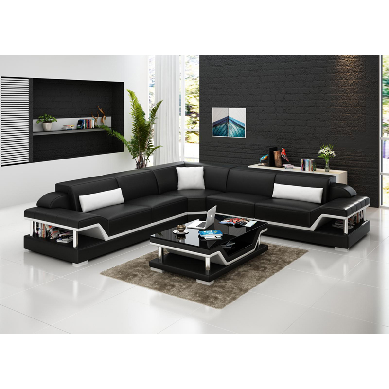 Modern Living Room Furniture L Shaped Sofa Set Top Bonded Leather Sectional Sofas Living Room Sets Aliexpress