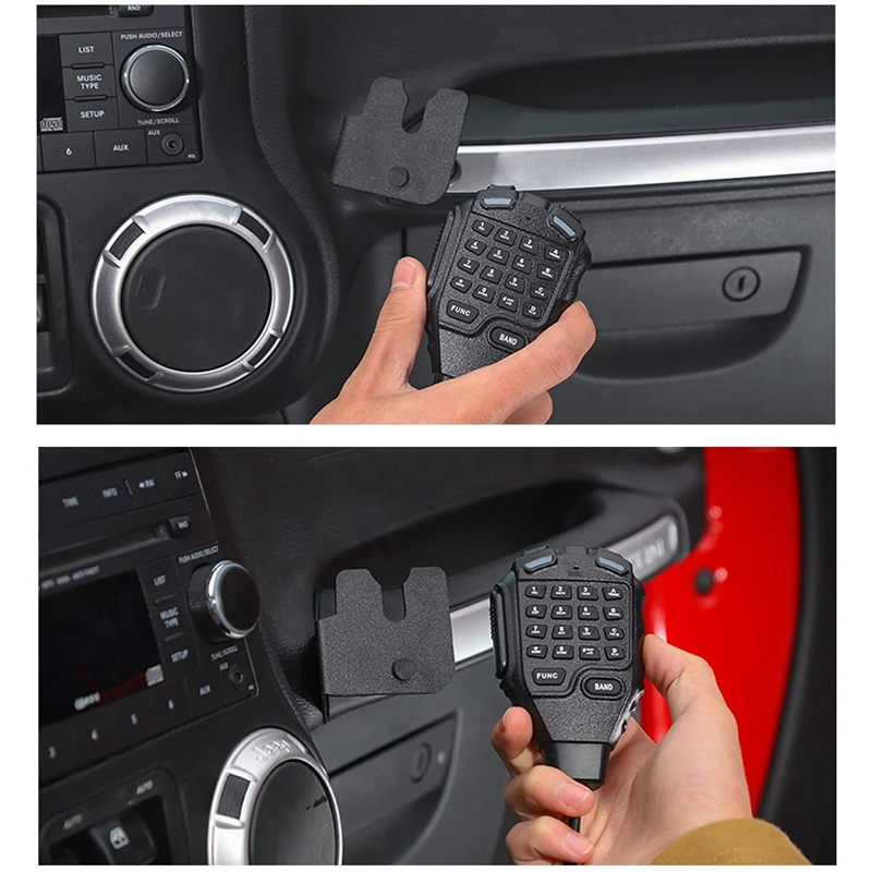 for Jeep Wrangler JK 2011-2018 CB Mic Mount Passenger Grab Bar Microphone Holder Hand Held Mounting Bracket Accessories enlarge