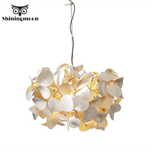 Nordic Fabric Flower Ceiling Chandelier Modern Led Chandeliers Lighting Hotel Restaurant Hanging Lamp Home Decor Light Fixtures