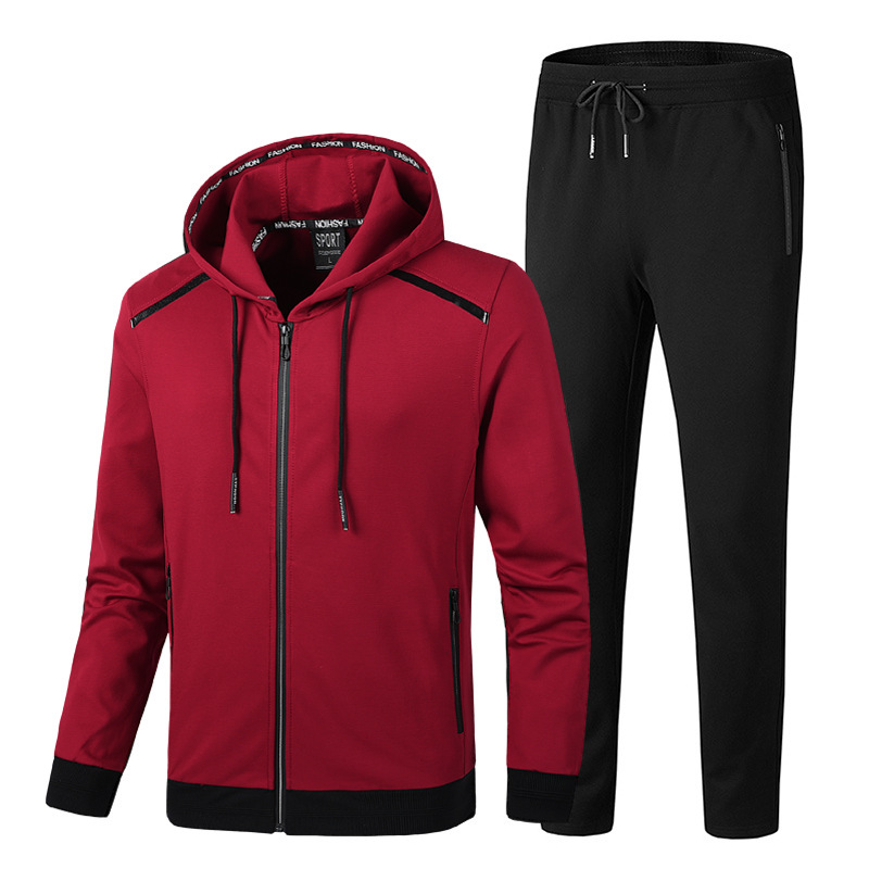 New Fashion Sports Suit Men 's Large Size Sportswear Leisure Set Large Extra-Large 50kg - 150kg Can Wear