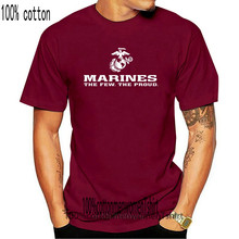 Tailored Shirts Marines The Few The Proud USMC Marine Corps Black T-Shirt USA LICENSED Men& Design O-Neck Short-Sleeve T Shirts