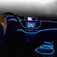 Clear Fiber Optic Car Home Lighting Decoration Cable DIY Fiber Optic Interior Ambient Car Door Center Console Decor Light