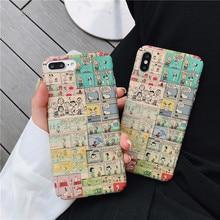 Meachy Cute Cartoon Hard Plastic Phone Case Cover For