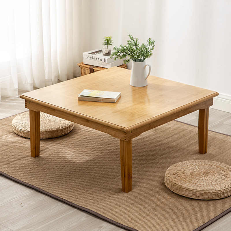 living room furniture coffee tables bamboo folding square coffee table japanese tatami low table dining table 50 60 70 80 35 cm