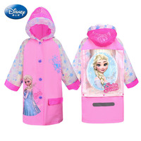 Disney children cartoon poncho raincoat Frozen elsa girl student with a bag cute princess raincoat kids raincoat Birthday gift