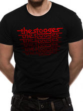 The Stooges Classic Logo Vintage Style T-Shirt Official Merch *Iggy Pop* O-Neck Teenage