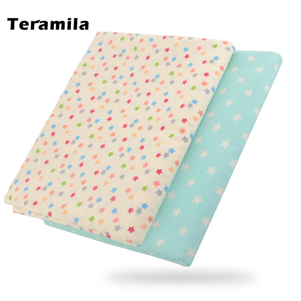 2021 News Colorful Shining Stars Designs Home Textile  Tela 100% Cotton Fabric Light Beige Twill Fat Quarter Material Patchwork