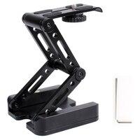 360 Aluminum Folding Z 9 Flex Tilt Pan Head Tripod Ballhead Quick Release Plate Camera Stand For Nikon Canon Dslrs Sliders