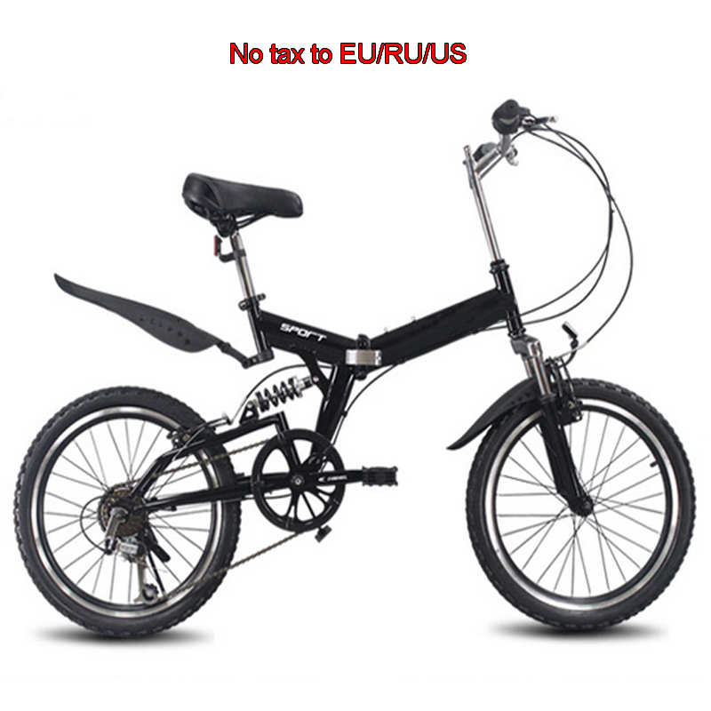 20inch Folding Mountain Bike 6 Variable Speed Bicycle Road Bike Male And Female Cycling Folding Bicycle Variable Speed Bike